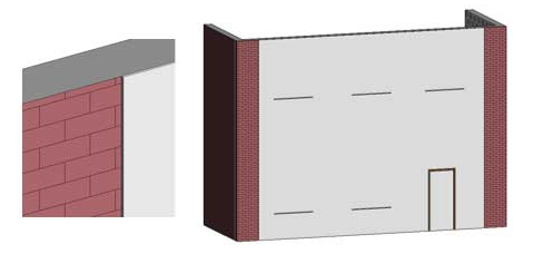 Tutorial come visualizzare un nuovo materiale per il rendering su un esistente muro di mattoni in Revit Architecture