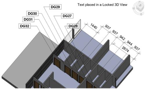 Autodesk Revit e le etichette nelle Viste 3D