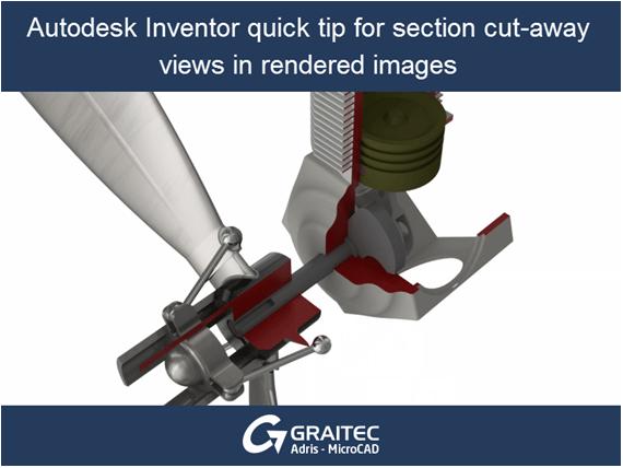 Consigli per Autodesk Inventor: come realizzare una sezione per un'immagine da renderizzare.