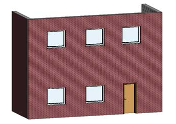 Come visualizzare un nuovo materiale per il rendering su un esistente muro di mattoni in Revit Architecture