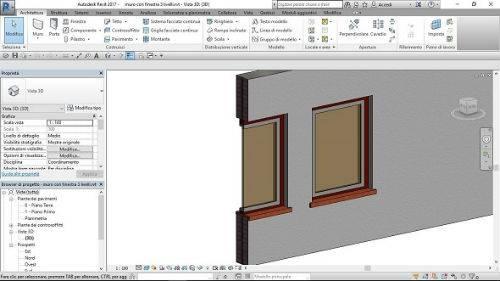 Elaborazione e visualizzazione di una famiglia finestra nei tre livelli di dettaglio - Fino all'associazione esecutiva di un profilo costruttivo 2D dell'infisso del fornitore in dwg CAD