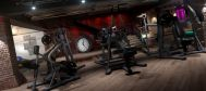 interior design industrial basement gym lg